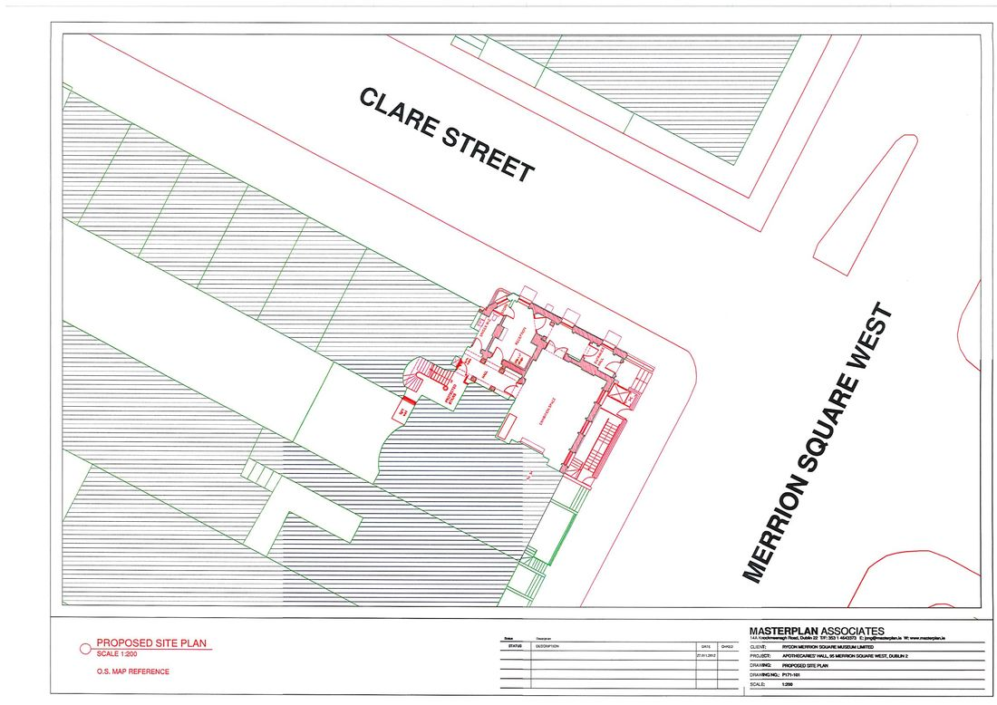 Apothecaries Hall site plan